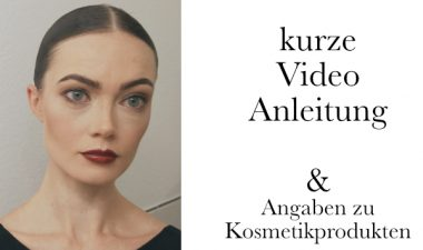 Video Make-up Anleitung mit Kosmetiktipps
