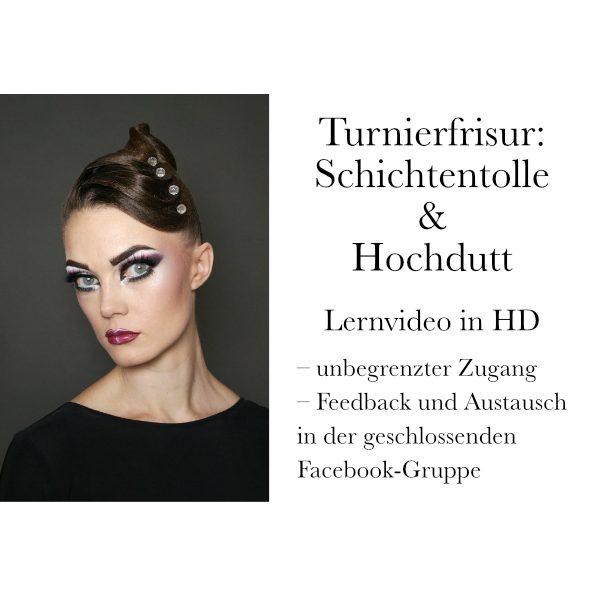 Turnierfrisur: Hochdutt & Schichtentolle