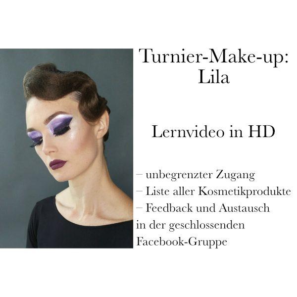 Turnier-Make-up: Lila