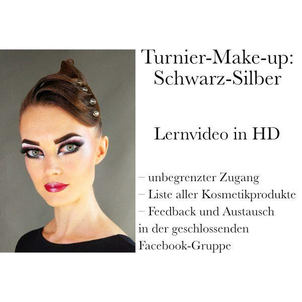 Turnier-Make-up: Schwarz-Silber