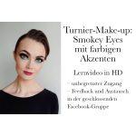 Make-up Anleitung für den Tanzsport Smokey Eyes mit farbigen Akzenten