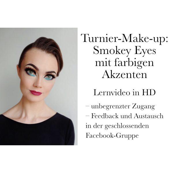 Turnier-Make-up: Smokey mit farbigen Akzenten